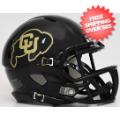 Helmets, Mini Helmets: Colorado Buffaloes NCAA Mini Speed Football Helmet <B>Matte Black</B>