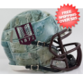 Helmets, Mini Helmets: Virginia Tech Hokies NCAA Mini Speed Football Helmet <B>Hydro Stone</B>