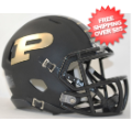 Helmets, Mini Helmets: Purdue Boilermakers NCAA Mini Speed Football Helmet <B>Matte Black</B>