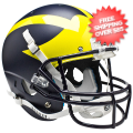 Helmets, Full Size Helmet: Michigan Wolverines Full XP Replica Football Helmet Schutt <B>Matte Blue</B...