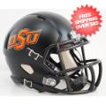 Helmets, Mini Helmets: Oklahoma State Cowboys NCAA Mini Speed Football Helmet <B>Matte Black</B>