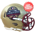 Helmets, Mini Helmets: Florida State Seminoles 2013 BCS National Champions NCAA Mini Speed Footbal...