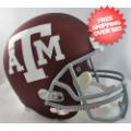 Helmets, Full Size Helmet: Texas A&M Aggies Full Size Replica Football Helmet <B>Matte Maroon</B>