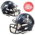 Helmets, Mini Helmets: Seattle Seahawks NFL Mini Football Helmet Super Bowl 48 XLVIII Champions