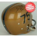 Autographs, Full Size Helmet: Sam Huff West Virginia Mountaineers Autographed Full Size Replica Helmet