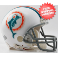 Helmets, Mini Helmets: Miami Dolphins 1972 Riddell Mini Replica Throwback Helmet