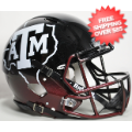 Helmets, Full Size Helmet: Texas A&M Aggies Speed Football Helmet <B>Hydrofx Matte Maroon</B>