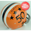 Autographs, Full Size Helmet: Dick Butkus Illinois Fighting Illini Autographed Full Size Replica Helmet