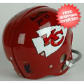 Autographs, Full Size Helmet: Hank Stram Kansas City Chiefs Autographed Full Size Replica Helmet