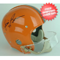 Autographs, Full Size Helmet: Jim Brown Syracuse Orangemen Autographed Full Size Replica Helmet