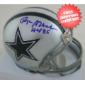 Autographs, Full Size Helmet: Roger Staubach Dallas Cowboys Autographed Full Size Authentic Helmet