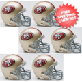 Helmets, Mini Helmets: San Francisco 49ers NFL Mini Football Helmet 6 count