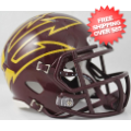 Helmets, Mini Helmets: Arizona State Sun Devils NCAA Mini Speed Football Helmet <B>Maroon Large Pi...