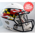 Helmets, Full Size Helmet: Maryland Terrapins Speed Football Helmet <B>Flag White</B>
