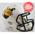 Helmets, Mini Helmets: West Virginia Mountaineers NCAA Mini Speed Football Helmet <B>2013 Season</...