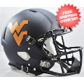 Helmets, Full Size Helmet: West Virginia Mountaineers Speed Football Helmet <B>Matte Navy</B>