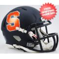 Helmets, Mini Helmets: Syracuse Orangemen NCAA Mini Speed Football Helmet <B>Matte Navy</B>