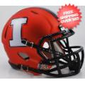 Helmets, Mini Helmets: Illinois Fighting Illini NCAA Mini Speed Football Helmet <B>Orange White I<...