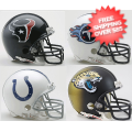 Helmets, Mini Helmets: Houston Texans, Tennessee Titans, Indianapolis Colts, Jacksonville Jaguars ...