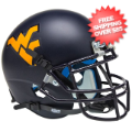 Helmets, Mini Helmets: West Virginia Mountaineers Mini XP Authentic Helmet Schutt <B>Matte Navy</B...