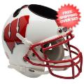 Office Accessories, Desk Items: Wisconsin Badgers Miniature Football Helmet Desk Caddy