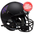 Helmets, Full Size Helmet: Washington Huskies Full XP Replica Football Helmet Schutt <B>Matte Black</B...