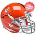 Helmets, Mini Helmets: Virginia Cavaliers Mini XP Authentic Helmet Schutt <B>Orange w/Stripe</B>