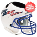 Office Accessories, Desk Items: Air Force Falcons Mini Football Helmet Desk Caddy <B>Flag Bolt with Stripe<...