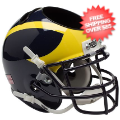 Office Accessories, Desk Items: Michigan Wolverines Miniature Football Helmet Desk Caddy