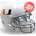 Helmets, Full Size Helmet: Miami Hurricanes Full XP Replica Football Helmet Schutt <B>White with Black...