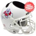 Office Accessories, Desk Items: Fresno State Bulldogs Mini Football Helmet Desk Caddy <B>White</B>