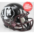Helmets, Mini Helmets: Texas A&M Aggies NCAA Mini Speed Football Helmet <B>2012 Black</B>