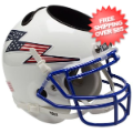 Office Accessories, Desk Items: Air Force Falcons Mini Football Helmet Desk Caddy <B>Flag Bolt</B>