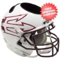 Office Accessories, Desk Items: Arizona State Sun Devils Miniature Football Helmet Desk Caddy <B>White Larg...