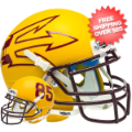 Helmets, Mini Helmets: Arizona State Sun Devils Mini XP Authentic Helmet Schutt <B>Matte Gold Larg...