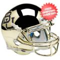 Helmets, Mini Helmets: Baylor Bears Mini XP Authentic Helmet Schutt <B>Chrome</B>