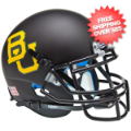 Helmets, Mini Helmets: Baylor Bears Mini XP Authentic Helmet Schutt <B>Matte Black</B>