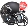 Helmets, Mini Helmets: Boise State Broncos Mini XP Authentic Helmet Schutt <B>Matte Black</B>