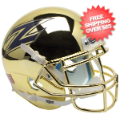 Helmets, Mini Helmets: Akron Zips Mini XP Authentic Helmet Schutt <B>Chrome</B>