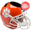Office Accessories, Desk Items: Clemson Tigers Miniature Football Helmet Desk Caddy