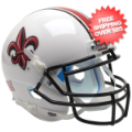 Helmets, Mini Helmets: Louisiana (Lafayette) Ragin Cajuns Mini XP Authentic Helmet Schutt <B>White...