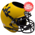 Office Accessories, Desk Items: West Virginia Mountaineers Miniature Football Helmet Desk Caddy <B>Matte Go...