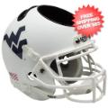 Office Accessories, Desk Items: West Virginia Mountaineers Miniature Football Helmet Desk Caddy <B>Matte Wh...
