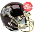 Helmets, Mini Helmets: Mississippi State Bulldogs Mini XP Authentic Helmet Schutt <B>Chrome Gold M...