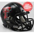 Helmets, Mini Helmets: Texas Tech Red Raiders NCAA Mini Speed Football Helmet <B>Chrome Logo</B>