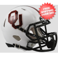 Helmets, Mini Helmets: Oklahoma Sooners NCAA Mini Speed Football Helmet <B>Bring The Wood White</B...