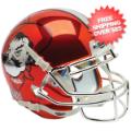 Helmets, Mini Helmets: Oklahoma State Cowboys Mini XP Authentic Helmet Schutt <B>Chrome</B>