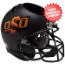Oklahoma State Cowboys Miniature Football Helmet Desk Caddy <B>Matte Black</B>