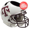 Office Accessories, Desk Items: Texas A&M Aggies Miniature Football Helmet Desk Caddy <B>White Maroon Mask<...