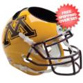 Office Accessories, Desk Items: Minnesota Golden Gophers Miniature Football Helmet Desk Caddy <B>Gold</B>